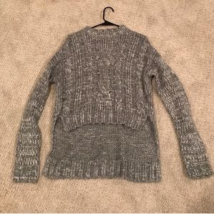 🆕NEW Nasty Gal High-Low Grey Knit Sweater S/M